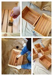 Building Wooden Bookcase by Diy Bookshelf From Unfinished Wooden Crates Frugal Upstate