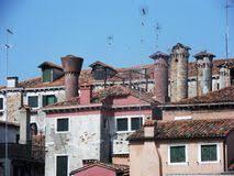camini veneziani palazzi veneziani stock photos royalty free stock images