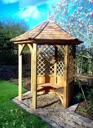 Garden Shelter Ideas Wooden Garden Shelter Gazebo Tub Shelter Wooden Seating Area