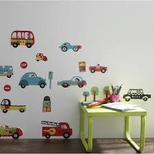 autocollant chambre bébé sticker les voitures 49 cm x 69 cm leroy merlin