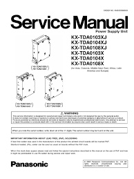 service manual power supply unit panasonic kx tda0104x