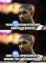 Tim Duncan Meme - nba memes tim duncan hahaha that expression almost never changes