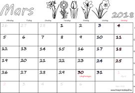 Kalender 2018 Helgdagar Mars 2018 Namnsdagar Veckonummer Gratis Utskrivbara Pdf