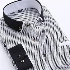 men u0027s dress shirt 2016 new fashion style slim fit lapel long