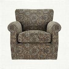 Arhaus Slipcover Duvall Upholstered Swivel Glider Chair In Tanook Spa Arhaus
