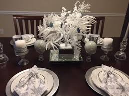 table decorating in silver white rhinestone