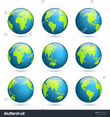 Europe Continent Map by Earth Globe World Map Set Planet Stock Vector 599063057 Shutterstock