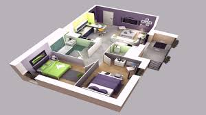 house plan design 3d 4 room youtube