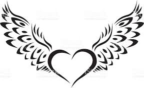 heart with wings tribal tattoo stock vector art 616254124 istock