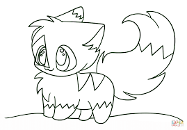 kawaii chibi kitten coloring page free printable coloring pages