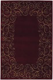 shaw accent rugs accents collection chateau garnet burgundy contemporary tan floral