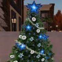 silver tree lights decore
