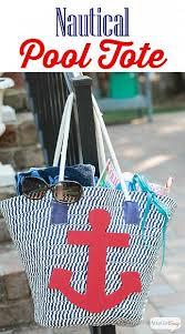nautical tote decoart crafts diy nautical tote bag