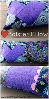 Sewing Patterns For Home Decor Bolster Pillow Cover For Valentines