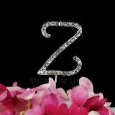 z cake toppers rhinestone z cake topper 2 inch monogram letter