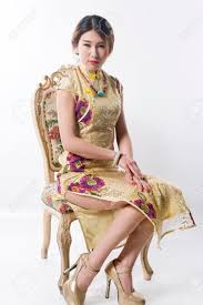 girl wear necklace images Wearing a turquoise necklace wear cheongsam sexy chinese girl jpg