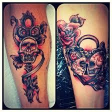 skull key and lock tatt s lock