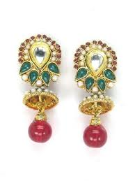 earing models polki earrings model 0473501 at rs 244 polki earring