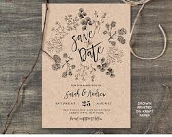 Rustic Save The Date Wedding Save The Dates Etsy