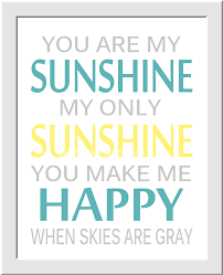 yellow gray baby nursery wall art you are my sunshine flower burst