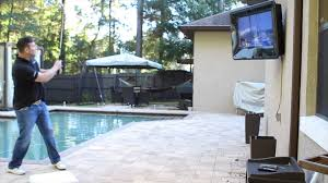 Build Outdoor Tv Cabinet The Tv Shield Weatherproof Outdoor Tv Enclosures Durability Test