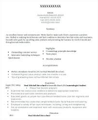 cosmetology resume templates this is resume for cosmetologist cosmetology student resume