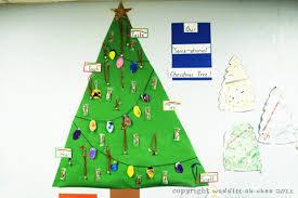 preschool sensory tree ornaments for see hear taste touch