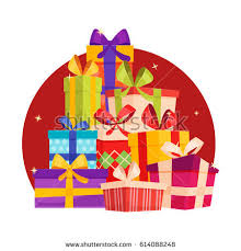 wrapped gift box big pile colorful wrapped gift boxes stock vector 614088248