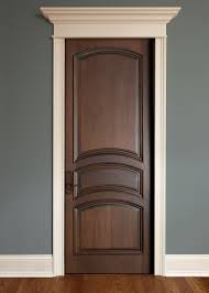 Interior Room Doors Interior Door Custom Single Solid Wood With Walnut Finish