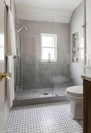 tiled bathrooms designs glass tile bathroom light gray 2x12 painted subway glass