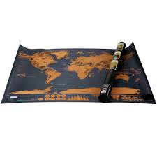 Scratch Off Map Deluxe Edition Large World Poster Scratch Off Map Travel Log Atlas