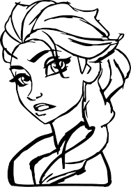 perfect elsa coloring page wecoloringpage