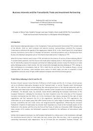 business interests and the transatlantic trade and investment
