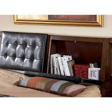 hidden storage in headboard of langley storage bed by coaster