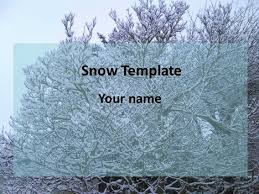 snow powerpoint template 1 jpg