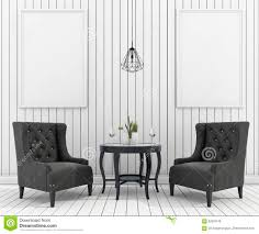 3d rendering mock up frame in living room with classic armchair