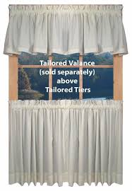 Pictures Of Window Curtains Kerry Solid Color Tailored Tiers Window Curtains Window Toppers