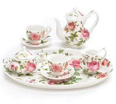 roses tea set saddlebrook porcelain child s tea set