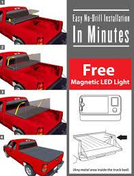 amazon com premium tcf371022 tri fold tonneau truck bed cover for