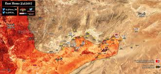 Syria Map Control by Syrian Army Establishes Fire Control Over Arak Gas Fields East Of