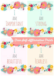 free self affirmation printables print some positivity free
