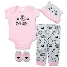 baby essentials baby essentials layette miss awesome gift set pink kid