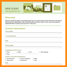 Client Information Sheet Template 5 Client Information Form Template Model Resumed