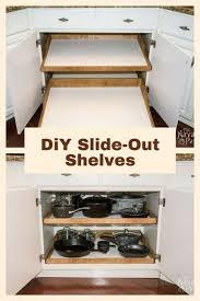 kitchen cabinet sliding shelves wonderful diy custom pull out double tray shelves for kitchen