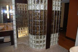 Glass Block Bathroom Ideas by Good Glass Block Shower Designs On Bathroom With Curved Glass