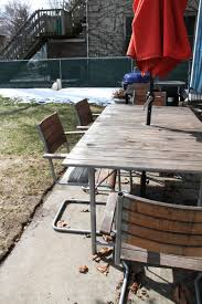 Refinishing Metal Patio Furniture - giving new life to my ikea outdoor furniture