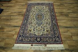 Signed Persian Rugs Signed Wool U0026 Silk 400 Knots 3x6 Isfahan Persian Rug Oriental Carpet