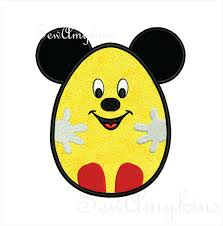 mickey mouse easter egg mickey mouse easter bunny ears rabbit applique machine