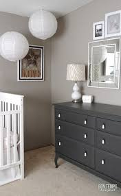 love the dark gray painted dresser with the light gray walls g u0027s