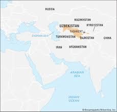 uzbekistan map in world uzbekistan geography history britannica